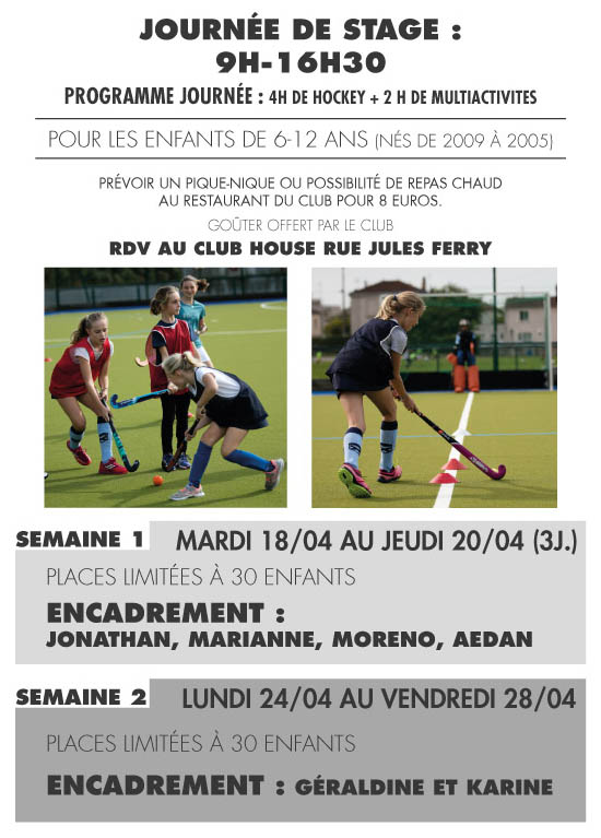 Stage Hockey PRINTEMPS 2017